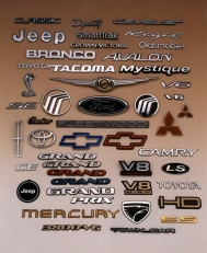 st louis product advertising photography - automotive emblems