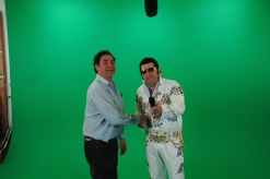 Mike Haller with Elvis